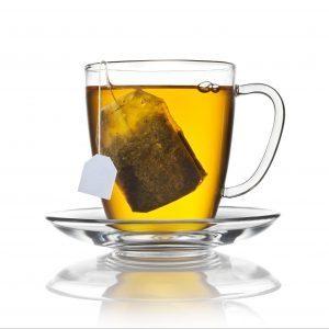 Tea contains caffeine