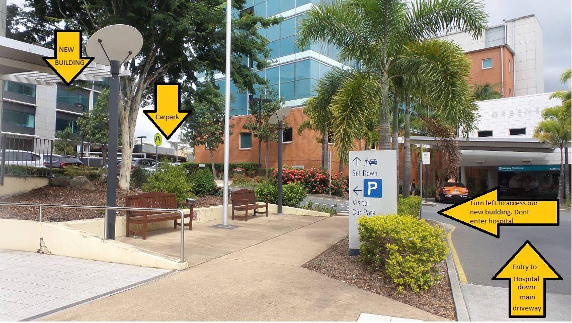 Hospital Parking Entrance